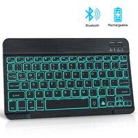 Mini tastiera Bluetooth tastiera Wireless RGB con retroilluminazione Notebook russo tastiera ipad per Tablet telefono Laptop PC Computer