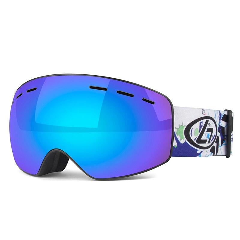 Детские профессиональные лыжные очки, линзы UV400, настоящие, vero, противотуманные, защита от солнца, лыжные очки для мальчиков и девочек, ...