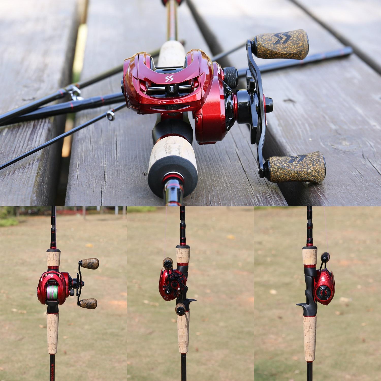 combo 4 seção portátil vara de pesca