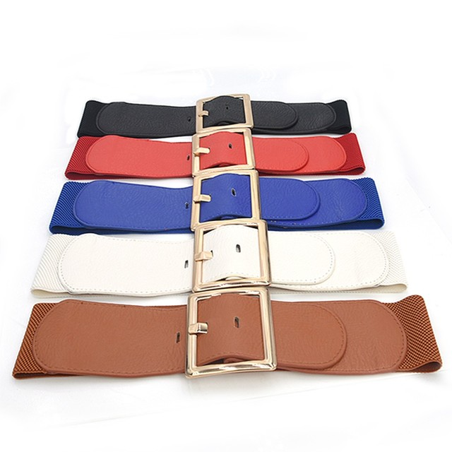 Women Ladies Waist Belt Wide Elastic Dress Accessories