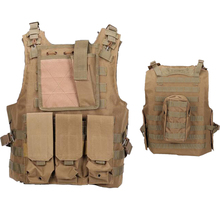 Military Gear Tactical Amphibious Vest USMC Airsoft Paintball Molle Combat Assault Plate Carrier Body Armor