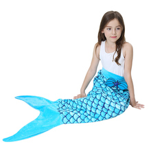 Girls Mermaid Tail Warm Soft Mermaid Tail Blanket Knitted Mermaid Blanket for Kids Throw Bed Wrap Sofa Mermaid Sleeping Bag super soft kintted sofa bed wrap mermaid blanket