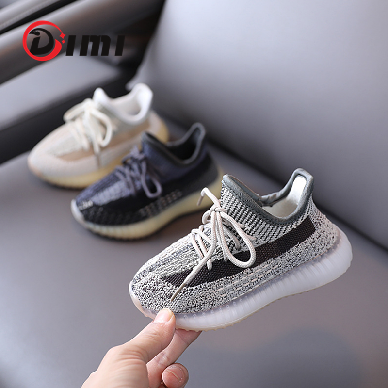 DIMI 2021 Nouveaux Enfants Chaussures Enfants Chaussures Décontractées Mode Respirant Tricot Fond Mou Antidérapant Garçons Filles Baskets