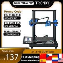 TRONXY XY 2 Pro 3D yazıcı kiti hızlı montaj 255*255*260mm yapı hacmi otomatik tesviye özgeçmiş baskı filament çalıştırmak algılama