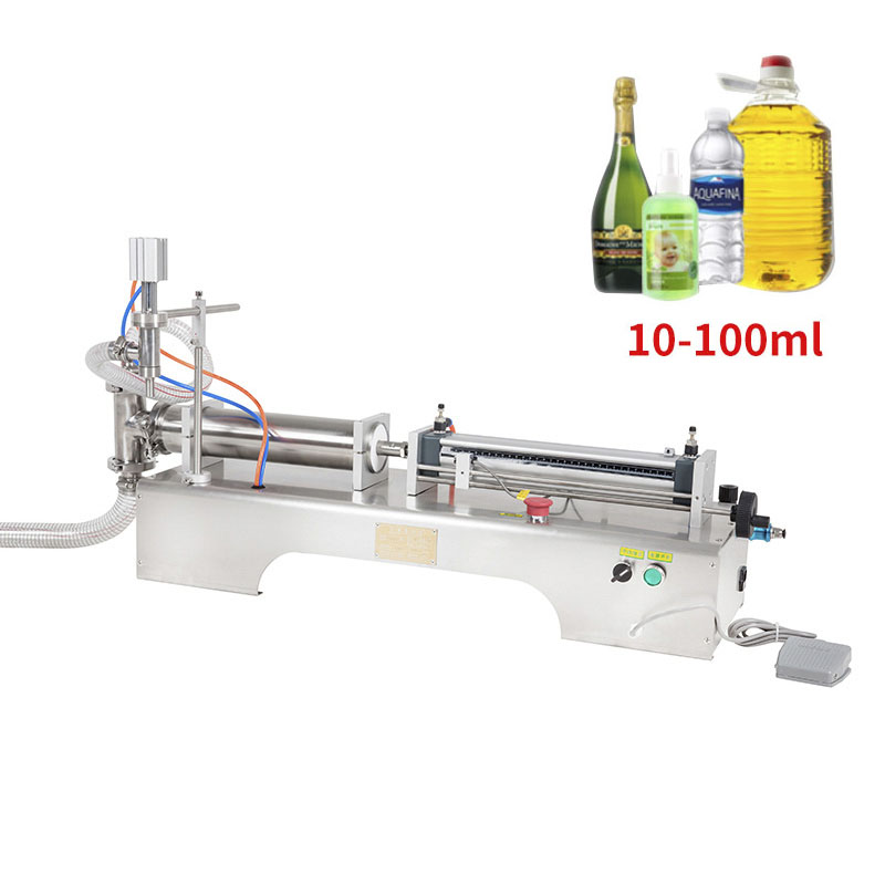 10-100ML Electric Pneumatic Single Head Liquid Filling Machine Shampoo Gel Water Wine Milk Coffee Beverage Filling Machine