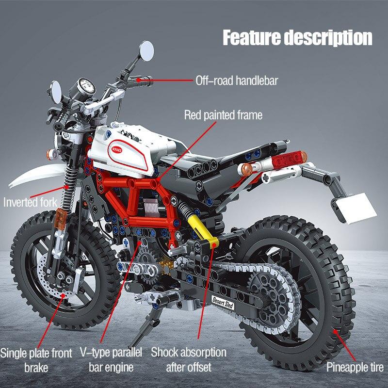 Winner Technical Motorcycle Car Model Building Blocks