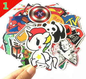 Decal Skin-Sticker Laptop Waterproof for Luggage Phone-Car 100pcs/Lot Toy Doodle Trend