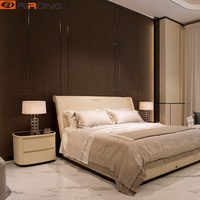 Italy Design Luxury 1.8m Leather Home Bedroom Modern Bed Furniture Double Beds