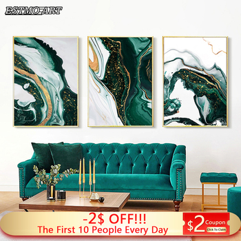Canvas Painting Abstract Art Gold and Green Print Poster HD Modern Minimalist Living Room Large Wall Home Decorative Picture dancing butterfly abstract canvas painting wall art poster and print scandinavian decorative picture modern home decoration