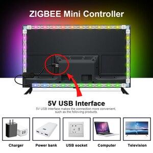 Image 4 - GLEDOPTO 5V USB HA CONDOTTO LA Luce di Striscia TV Sfondo di Illuminazione A LED RGBCCT ZigBee Smart APP Amazon Alexa Eco Più sfondo del Desktop