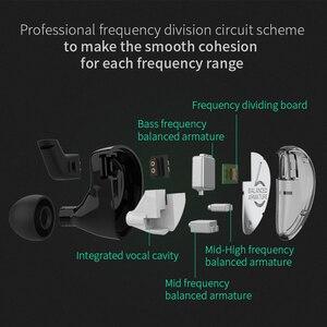 Image 5 - KZ AS06 3BA Stick In Ohr Kopfhörer 3 Ausgewogene Anker Abnehmbare Lösen 2PIN Kabel HIFI Monitor Sport Kopfhörer Benutzerdefinierte Kopfhörer