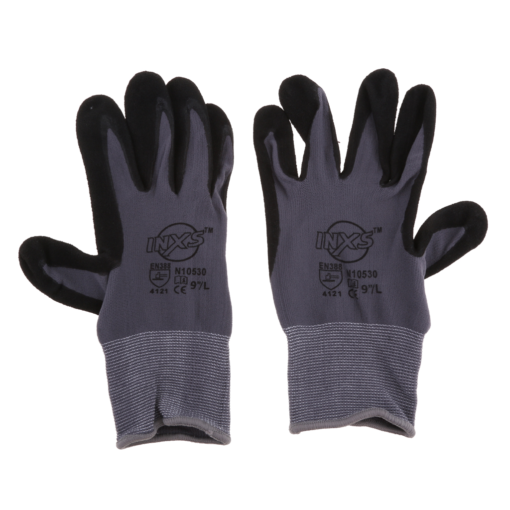 Seamless Nylon Knit Nitrile Coated Work Gloves For Garden Work, Daily Maintenance - Breathable And Oil Proof Wearproof