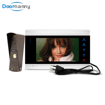 Doornanny 7Inch Video Intercom Ship From Moscow Interphone Apartment Access Control System Monitor Doorbell Pannel Set smartyiba rfid access control camera intercom wired 7inch monitor video intercom door phone doorbell system for 8 apartment