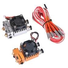 3D Chimera Hotend Комплект двойной цвет 2 в 2 из экструдера мульти-экструзии все металлические V6 двойной экструдер 0,4 мм/1,75 мм части 3D принтера