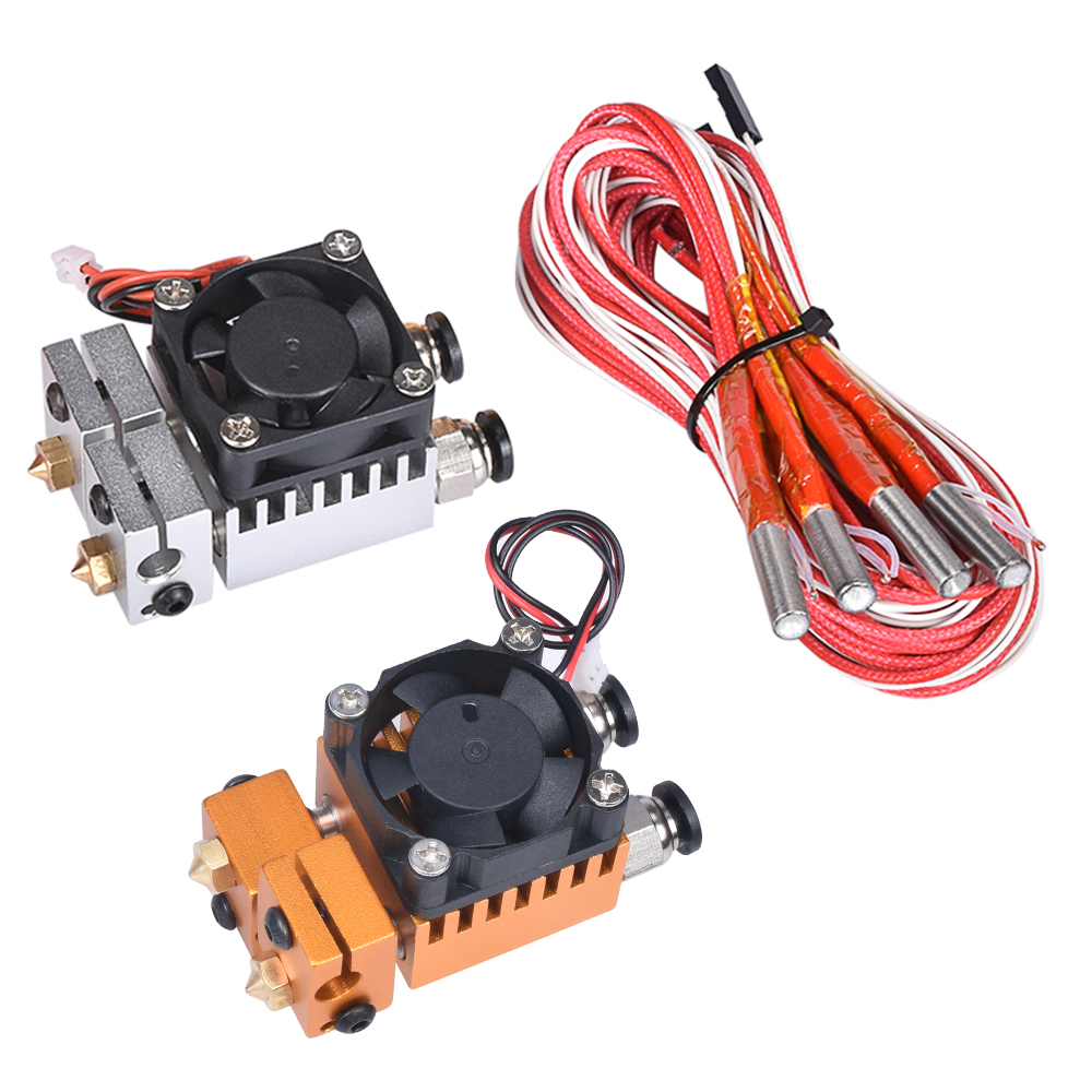 3D Chimera Hotend Kit Dual Color 2 IN 2 OUT Extruder Multi-extrusion All metal V6 Dual Extruder 0 4mm 1 75mm 3D printer parts