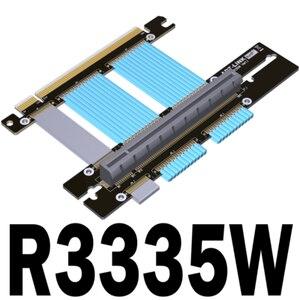Image 1 - كابل تمديد PCIE 4.0 16x لبطاقة الرسومات من الكمبيوتر كابل مرن كامل السرعة 4.0 وحدة معالجة الرسومات كابل الناهض 90 درجة لatx PC Case /ASUS ROG الشاسيه