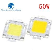 משלוח חינם 10pcs 50W LED משולב מתח גבוה מנורת BeadsWhite/חם לבן 1500mA 32 34V 4000 4500LM 24 * 40mil שבב