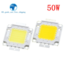 Frete grátis 10 pçs 50w led integrado lâmpada de alta potência beadswhite/branco quente 1500ma 32 34v 4000 4500lm 24 * 40mil chip
