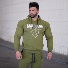 Mens fashion brand hoodies gyms Fitness bodybuilding Sweatshirt Crossfit pullover sportswear male Leisure jacket clothing