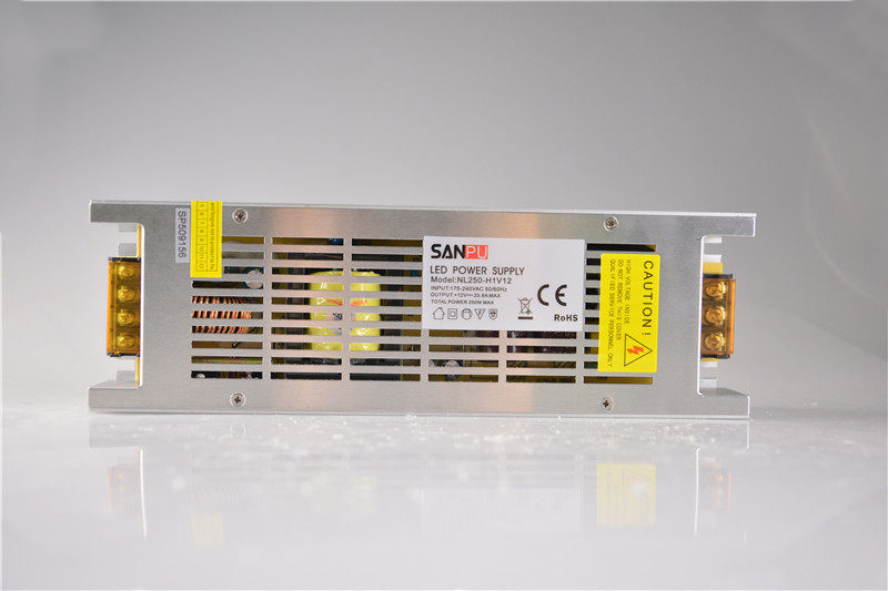 SANPU SMPS 12v dc 250w LED Power Supply <font><b>20a</b></font> Constant Voltage Switching Driver <font><b>220v</b></font> 230v ac to dc Lighting Transformer Fanless image