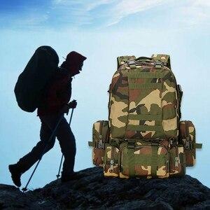 Image 3 - 55L Molle العسكرية على ظهره الجيش المجال بقاء كامو حقيبة سفر متعددة الوظائف مزدوجة الكتف حقيبة ظهر بسعة كبيرة