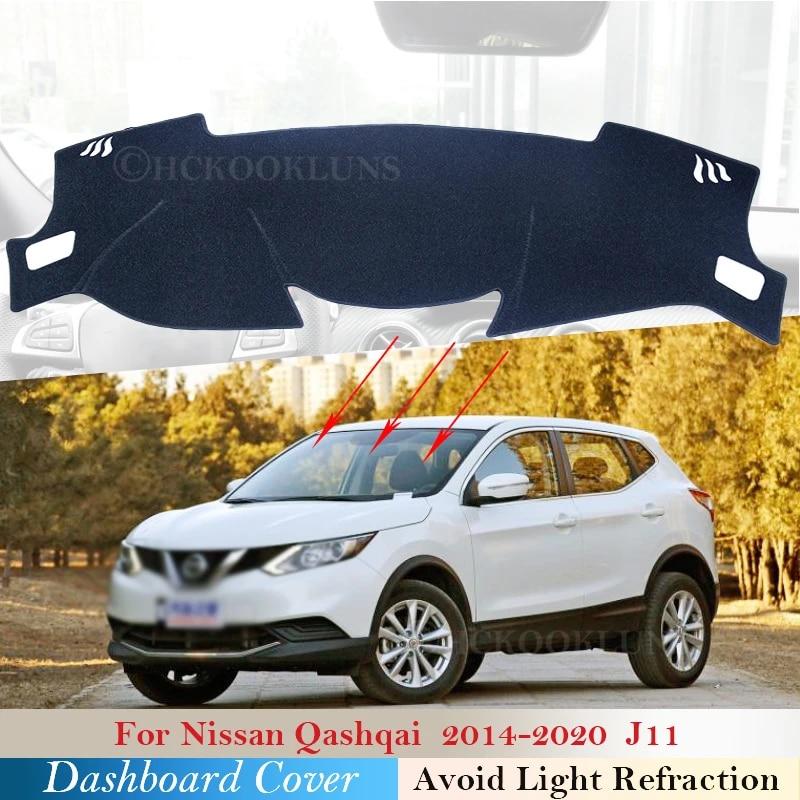 couverture de protection de tableau de bord pour nissan qashqai j11 2014 2020 accessoires de voiture pare soleil de tableau de bord tapis anti uv