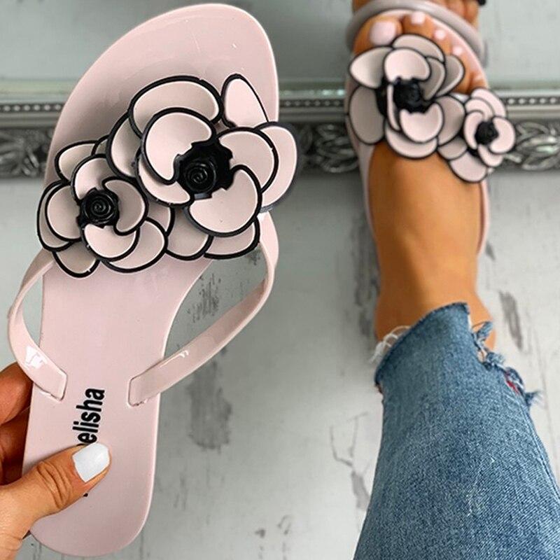 NAN JIU MOUNTAIN 2020 Women's Slipper Flat Flowers Outdoor Non Slip Wear Resistant Beach Shoes Flip Flops Women Sandals|Flip Flops| - AliExpress