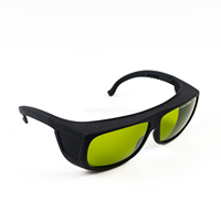 LSG 14 Laser Safety Goggles with 600 1100nm O.D 4+ CE S11, BIG Frame CE FOR Red Lasers and IR Lasers and Co2 Laser