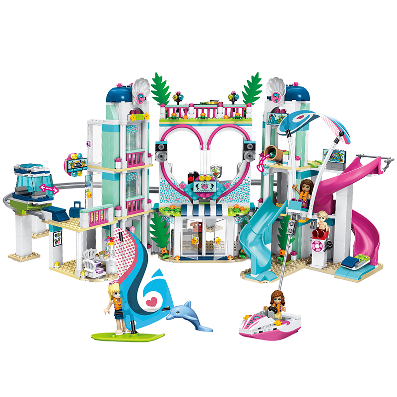 1039pcs Friends The Heartlake City Resort House Model Building Block Compatible Lepining Friends Bricks Toys For Girls Gifts