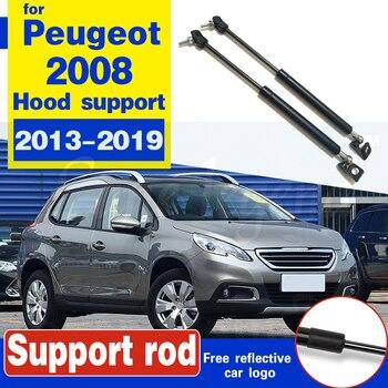 For Peugeot 2008 I 2013-2019 SUV Front bonnet Hood Gas Spring Struts Prop Lift Support damper Hydraulic Rod strut rod bracket