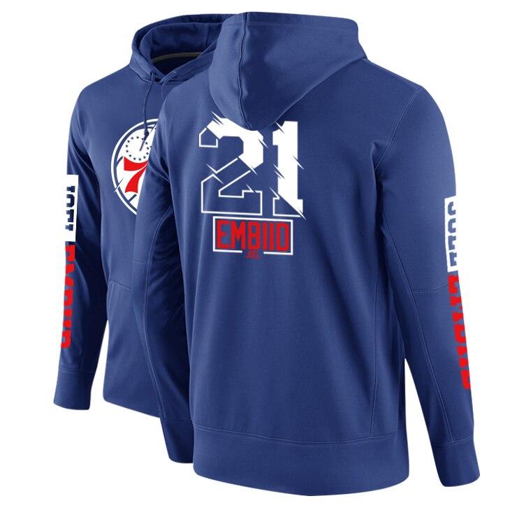 Embiid Simmons Winter Fleece Guard Coat Sports Men's Basketball Hoodies Sweatshirt Hiphop Street DPOY Brand Original Design