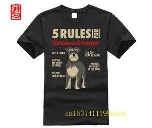 5 zasad dla sznaucera miniaturowego-zabawny właściciel psa prezenty T-Shirt T-Shirt mężczyzna i kobieta tee