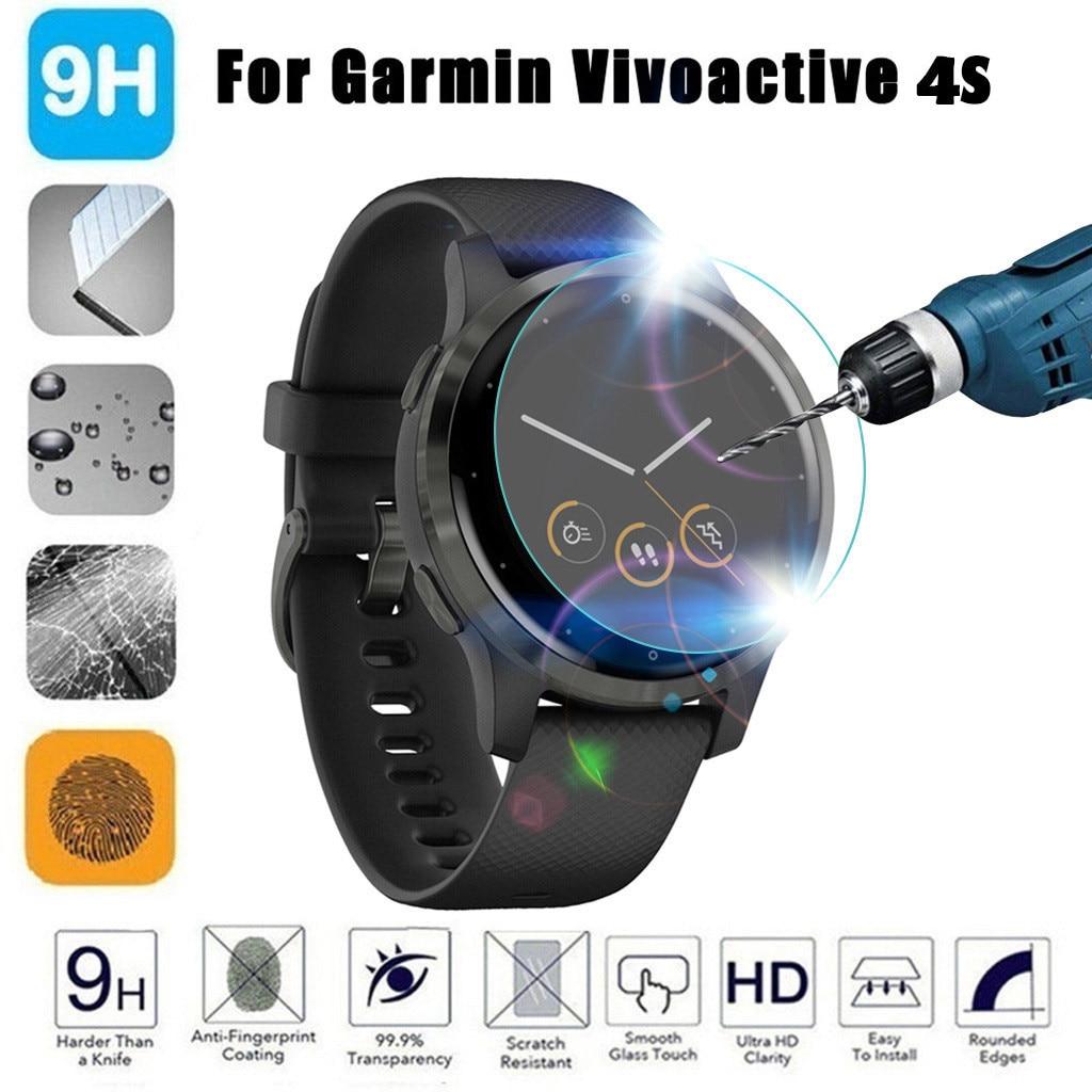 1PC Full Cover Film Tempered Glass Screen Protector For Garmin Vivoactive 4S #BO