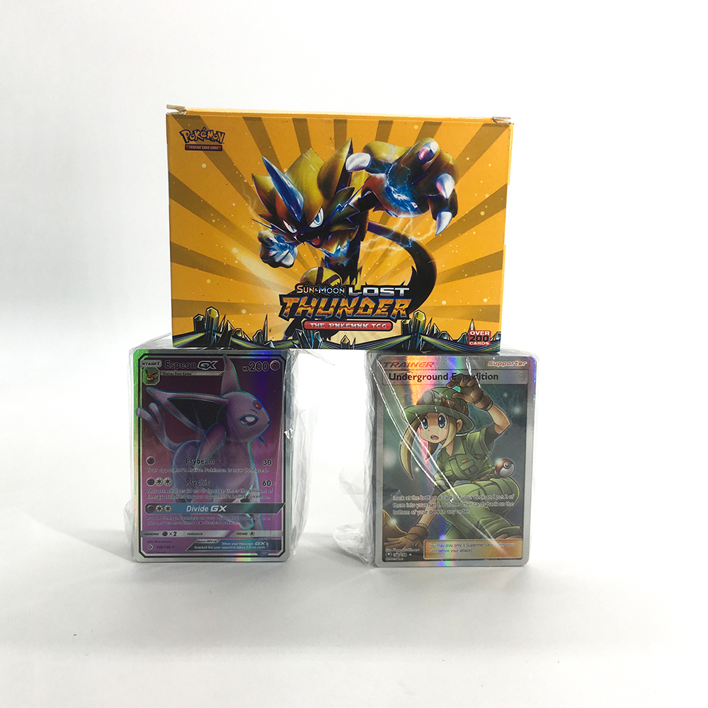 200PCS GX MEGA Pokemon Shining Flash Card 3D Sword Shield Sun Moon Card Collectible Gift Children Toy