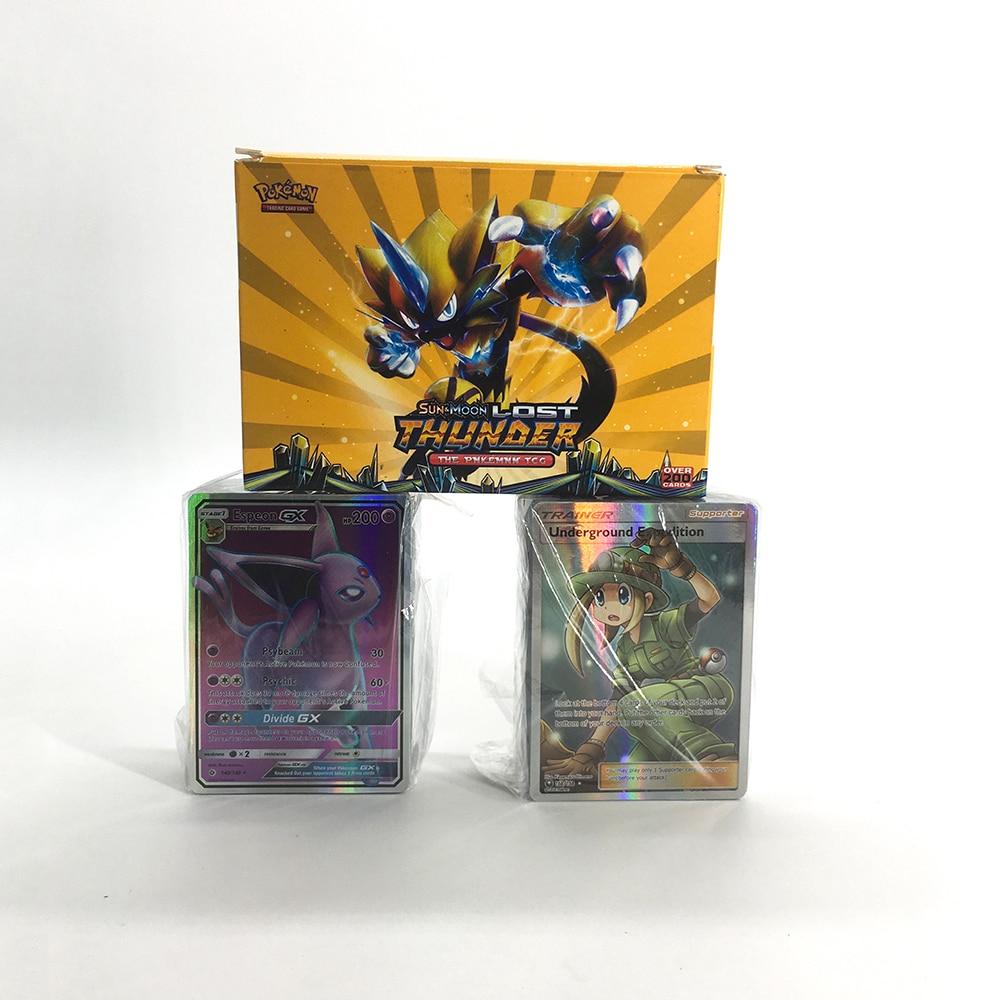 200PCS GX MEGA Pokemon Shining Flash Card 3D Sword Shield Sun Moon Card Collectible Gift Children Toy