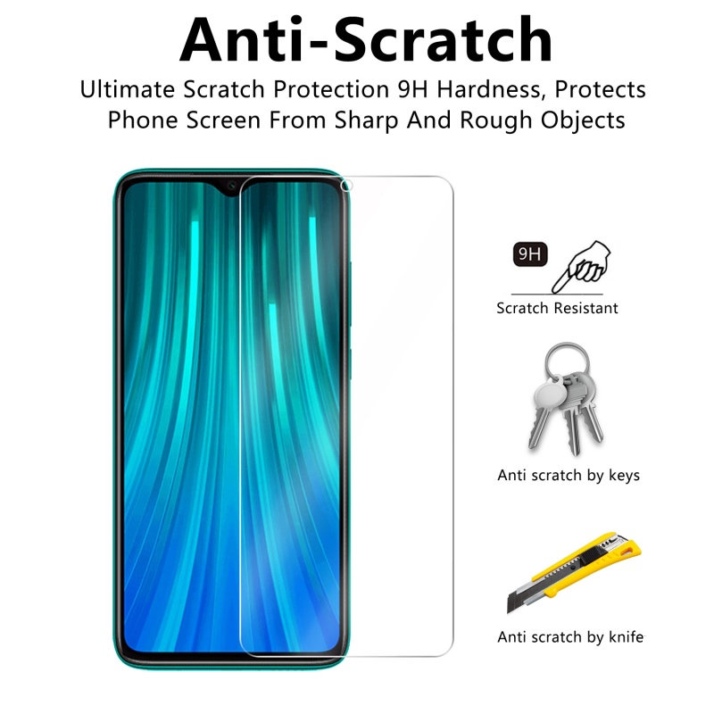 Image 4 - 2 Pcs Tempered Glass For Xiaomi Redmi Note 8 / Note 8 Pro Screen Protector 9H Tempered Glass For Redmi Note 8 Protective Film-in Phone Screen Protectors from Cellphones & Telecommunications
