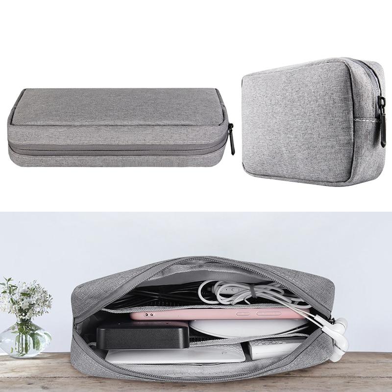Organizer Travel Storage Portable Digital Accessories Gadget Devices USB Cable Charger Storage Case Convenient Travel Cable Bag