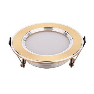 Image 1 - Spot lumineux encastrable pour le plafond, luminaire mural, idéal pour un placard, lumière blanche chaude, jaune or/argent, 3/5/7W, LED W