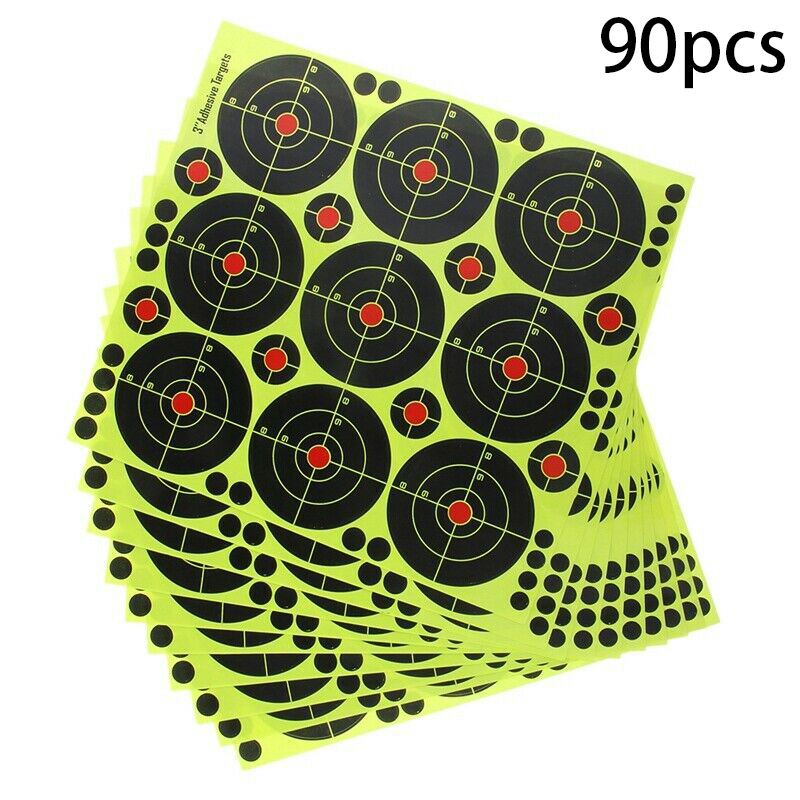 90Pcs  Per Pack Splash Flower Target 3-inch Adhesive Reactivity Shoot Target Aim For Gun / Rifle / Pistol Binders