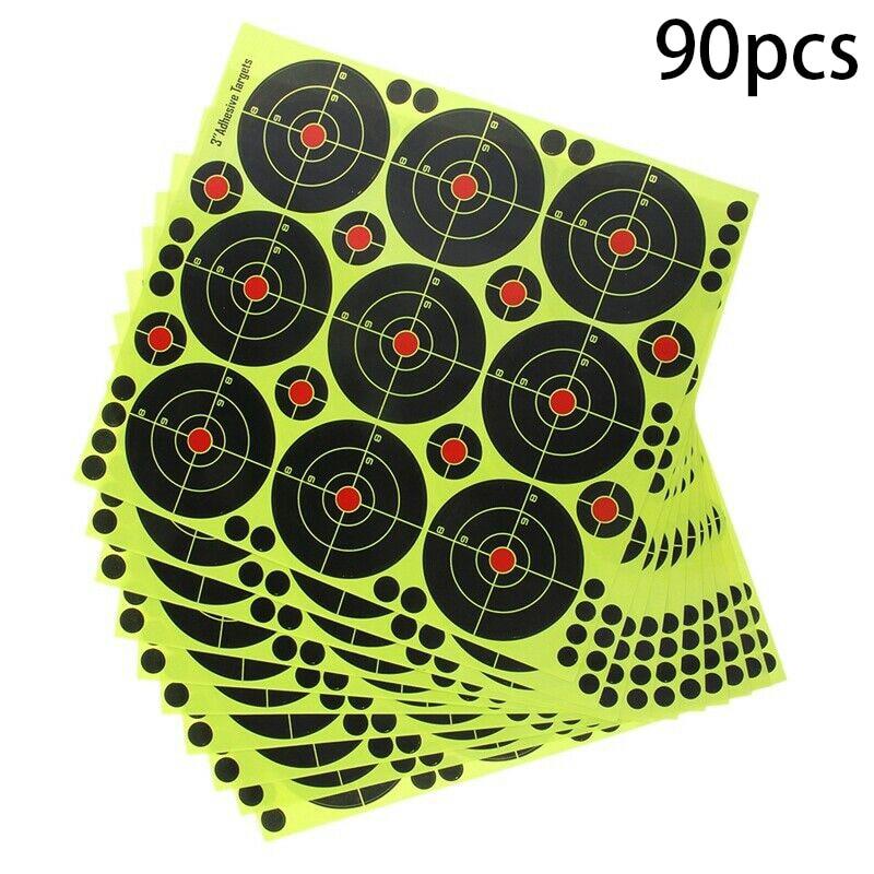 90Pcs  Per Pack Splash Flower Target 3-inch Adhesive Reactivity Shoot Target Aim For Gun / Rifle / Pistol Binders