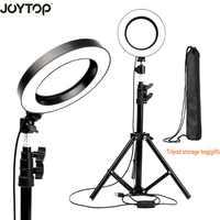JOYTOP 16 cm/6 Led Ring luz lámpara Selfie luz con trípode para vídeo maquillaje YouTube Live Stream para iphone Smartphone maquillaje