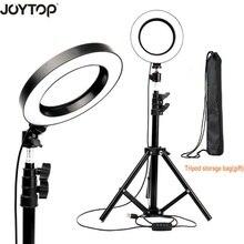 """JOYTOP 16 cm/6 """"Led halka ışık lamba selfi ışığı için Tripod ile Video makyaj YouTube canlı akışı için iphone smartphone makyaj"""