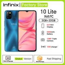 Global Versie Infinix Hot 10 Lite 2Gb Ram 32Gb Rom 6.6 ''5000Mah Batterij 13MP Ai Triple camera Helio A20 Quad Core Mobiele X657C
