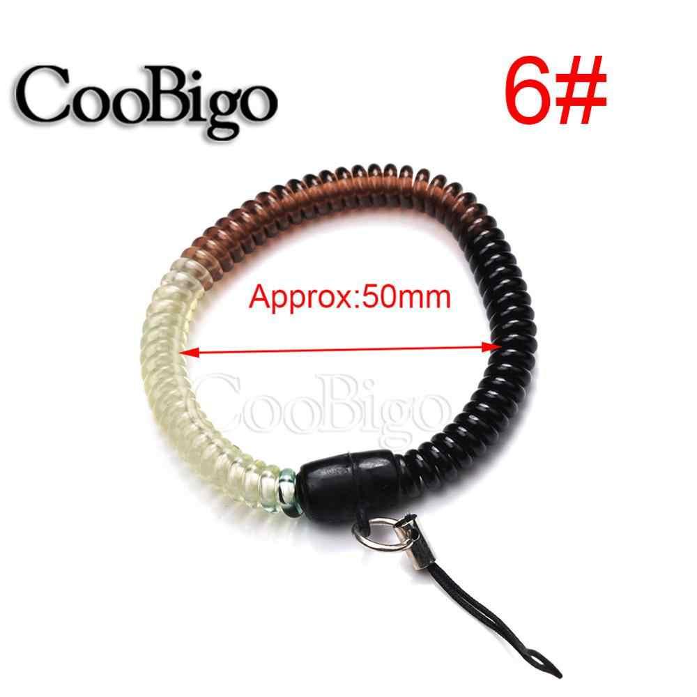 10 pièces extensible ressort spirale bobine souple bracelet porte-clés porte-clés téléphone anneau porte-chaîne Sport voyage