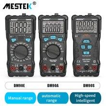 MESTEK yüksek hassasiyetli multimetre 6000 sayımlar otomatik aralığı test cihazı akıllı NCV True RMS anti yanan evrensel multimetreler