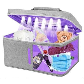 6W LED UV Cleaner Bag, 265nm Sanitizer Bag Box For Phone, Portable UV Sterilizer Box Sterilization 99% Cleaned Within 5 Mins NEW gojo 962112 bag in box hand sanitizer dispenser 800ml 5 5 8w x 5 1 8d x 11h we