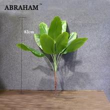 82 см большое искусственное растение тропическая Пальма пластиковое дерево Настоящее прикосновение поддельные растения ветка зеленые листья для дома вечерние украшения осень