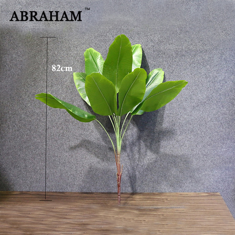 82cm Large Artificial Plant Tropical Palm Plastic Tree Real Touch Fake Plant Branch Green Leaves for Home Party Fall Decoration(China)