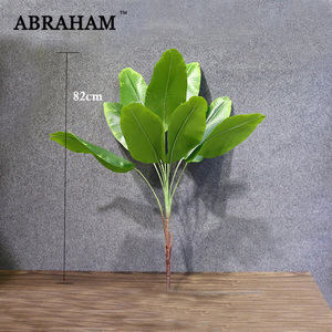 82cm Large Artificial Plants Tropical Banana Trees Palm Leaves Fake Plant Branch Plastic Green Leaf Home Party Jungle Decoration