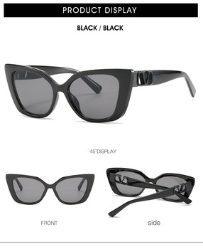 Small frame sunglasses with V word European and American trend 2